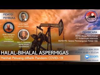 Embedded thumbnail for Halalbihalal Aspermigas, Sabtu 13 Juni 2020